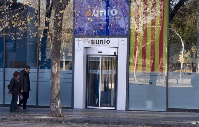 Entrada de la sede central de Unió en Barcelona