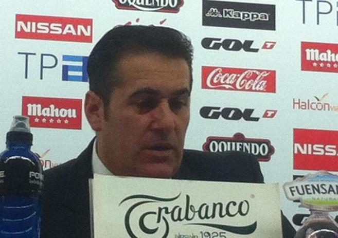 José Ramón Sandoval, durante su rueda de prensa.