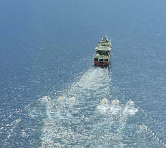 Barco responsable de la campaña sísmica de la petrolera escocesa...