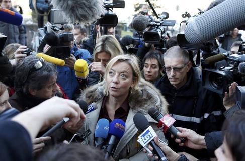 Sabine Kehm, en una comparecencia ante los medios.