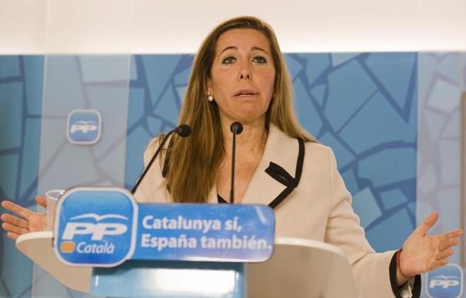 La líder del PP, Alicia Sánchez-Camacho.