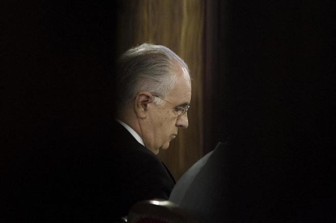 El ex conseller de Solidaridad, Rafael Blasco, en el banquillo de los...
