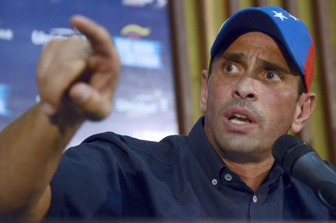 El líder opositor, Henrique Capriles, durante las pasadas elecciones.