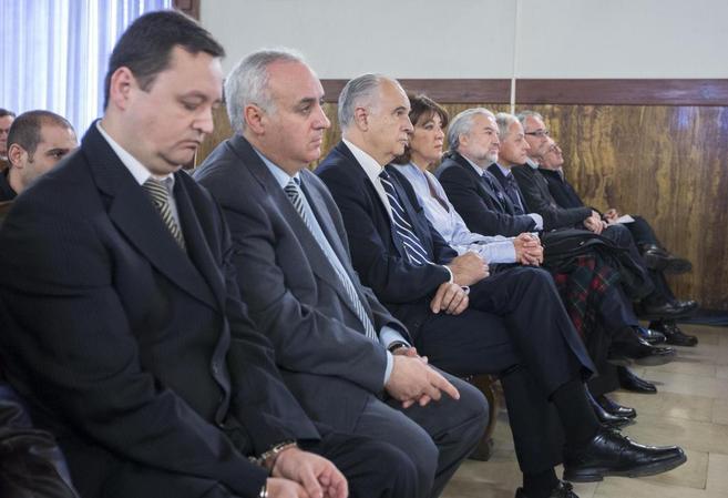 El banquillo de los acusados en el juicio por el caso Cooperación