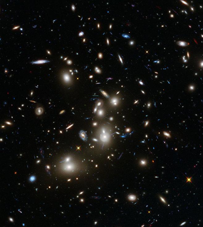 Imagen en aumento del conjunto de galaxias Pandora captada por el...