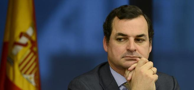Leopoldo González-Echenique, presidente de RTVE, durante una...