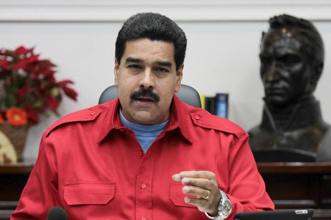 El presidente de Venezuela, Nicolás Maduro, durante un consejo de...
