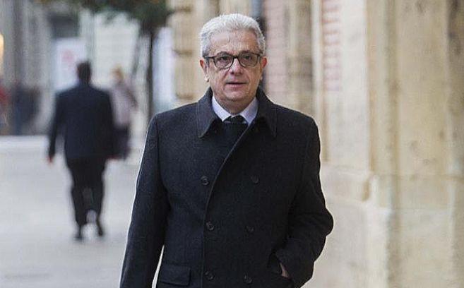 El abogado Javier Boix, a su llegada al Tribunal Superior de Justicia.