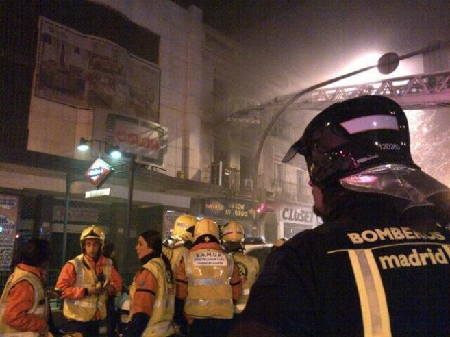 Incendio declarado en el número 137 de Bravo Murillo.