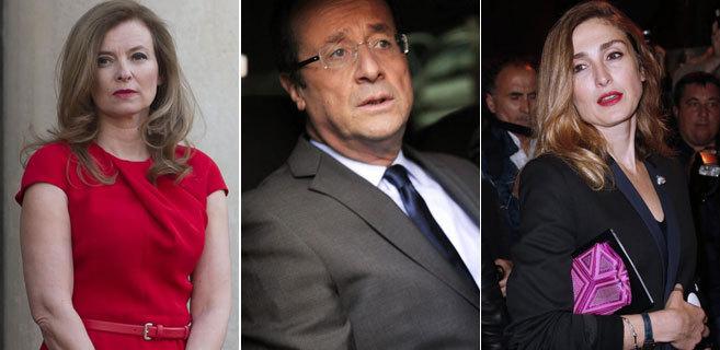 Valerie Trierweiler, François Hollande y Julie Gayet