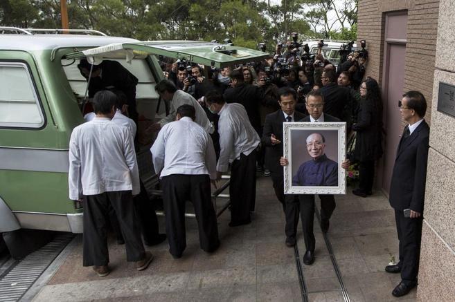 Un momento del funeral de Run Run Shaw.