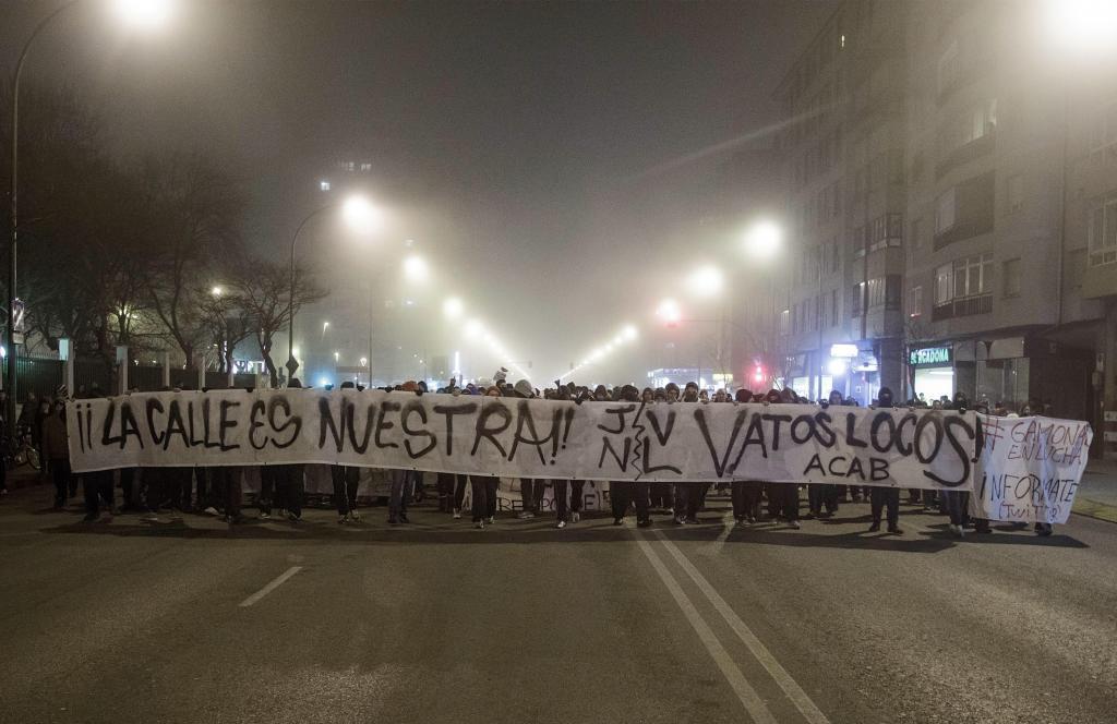 Manifestación celebrada esta noche en Burgos, que ha dado lugar a...