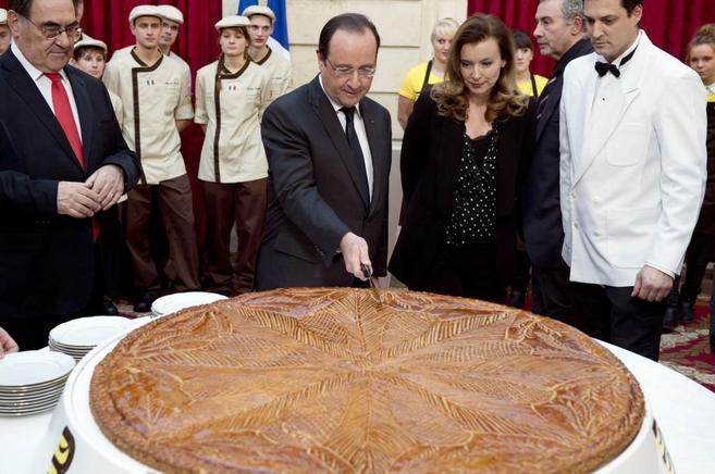 Hollande y Trierweiler en un acto juntos el pasado 7 de enero.
