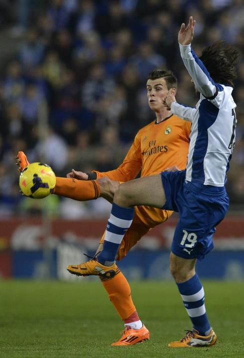 Gareth Bale, en acción ante el Espanyol.
