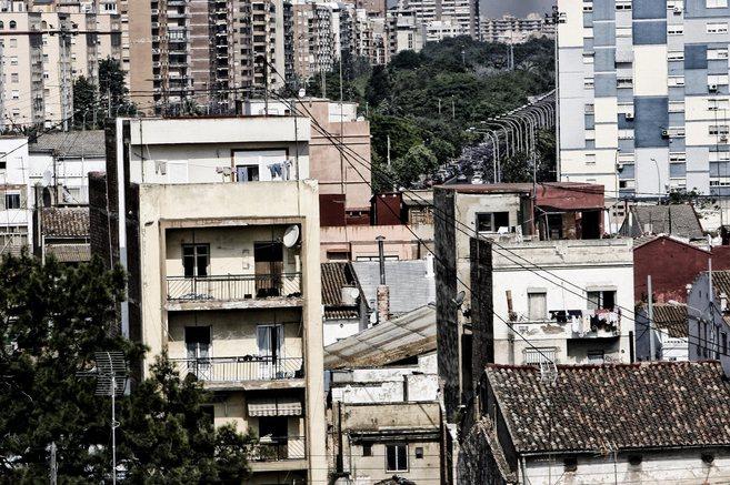 Imagen de algunos de los edificios del barrio de El Cabanyal de...