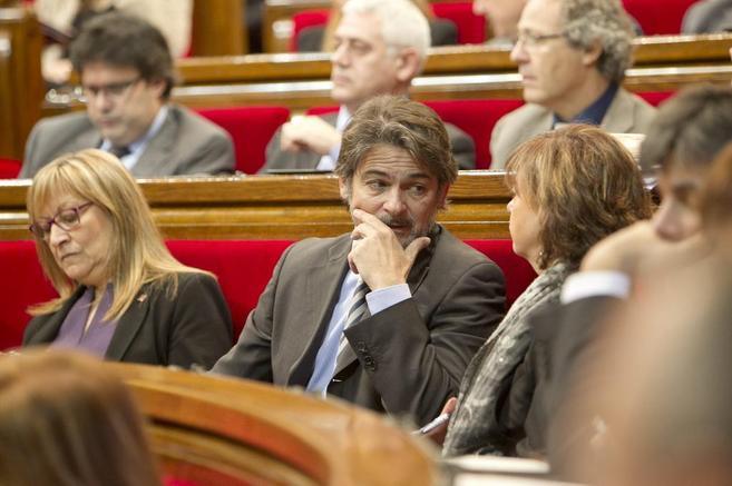 Oriol Pujol, durante una sesión en el Parlament.
