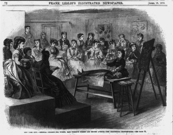 Varias mujeres atienden a una lección de anatomía  Nueva York en...