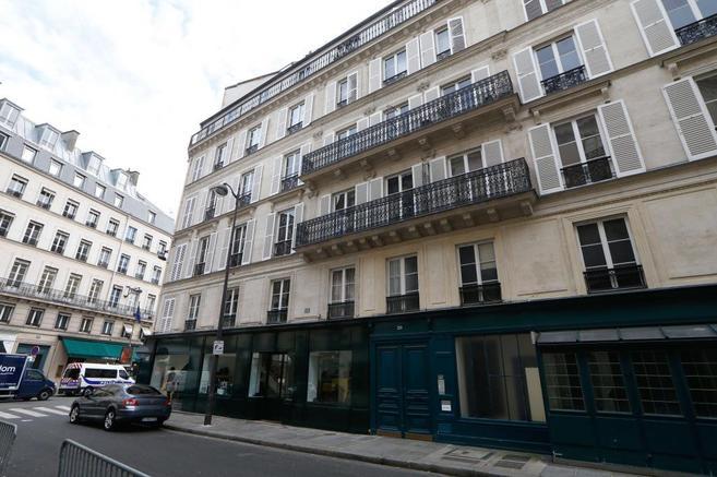 El edificio en el que han estado encontrándose François Hollande y...