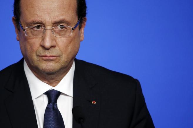 El presidente francés Francois Hollande durante un acto.