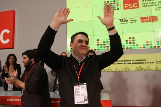 Carles Martín, en un congreso del PSC de Barcelona.