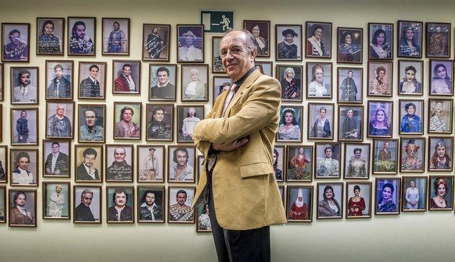 Leo Nucci en la sede de la ABAO.