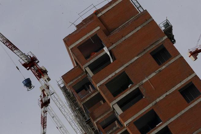 Obras de construcción de vivienda en la Comunidad de Madrid.