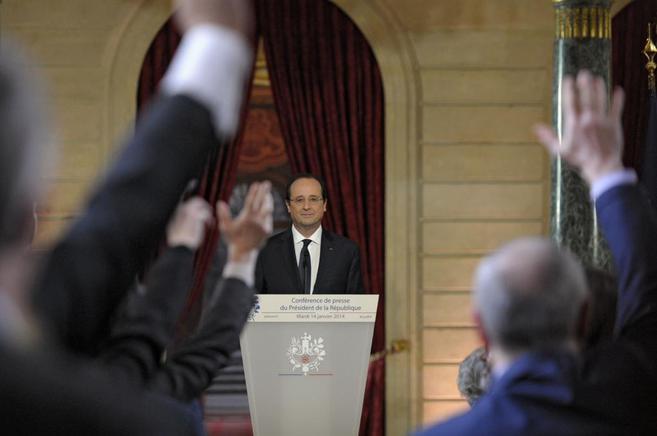 El presidente francés, Francois Hollande, en el Palacio del Elíseo.