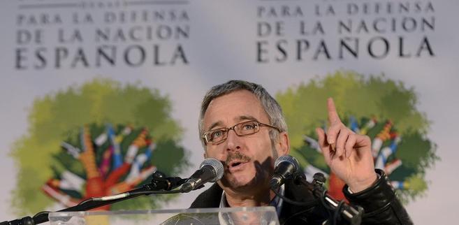 El ex funcionario de prisiones José Antonio Ortega Lara, en la marcha...