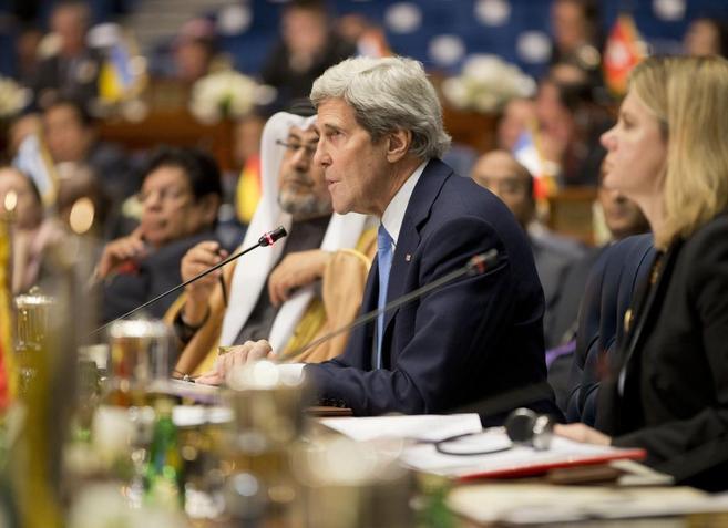 El secretario de Estado de EEUU, John Kerry, en la Conferencia de...