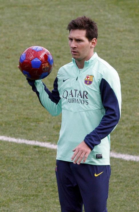 Leo Messi, durante un entrenamiento.