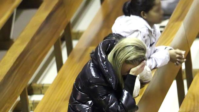 Anne, fotografiada en una Iglesia a la que acude a rezar...