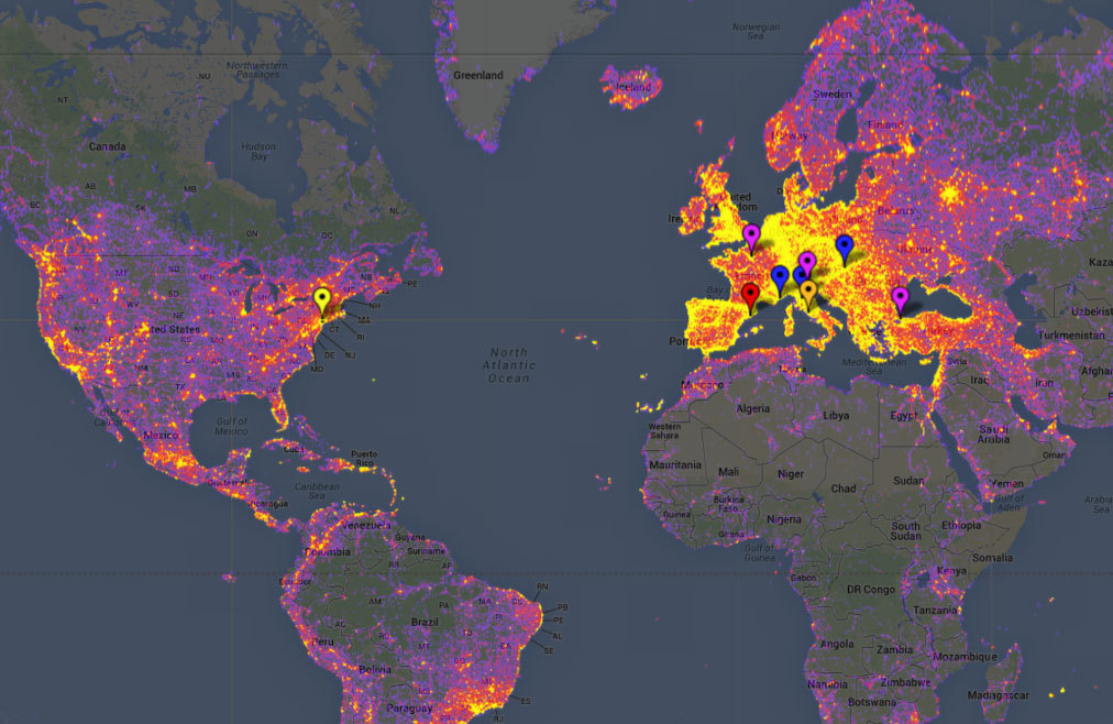 El mapa de calor fotográfico de Sightsmap.
