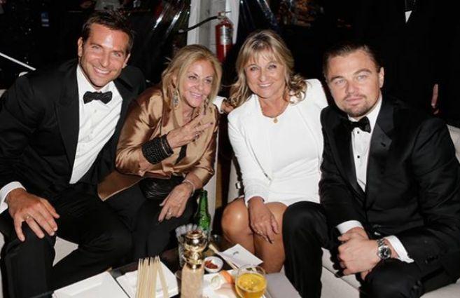 Bradley Cooper y Leonardo DiCaprio de fiesta en los Globos de Oro...
