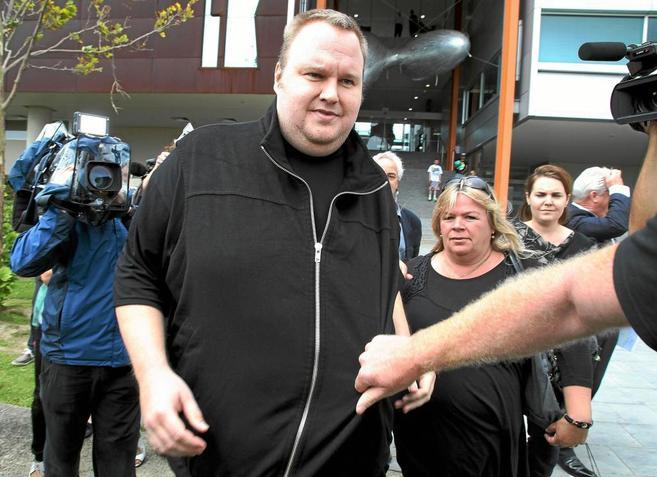 Kim 'Dotcom' Schmidt cuando obtuvo la libertad condicional...