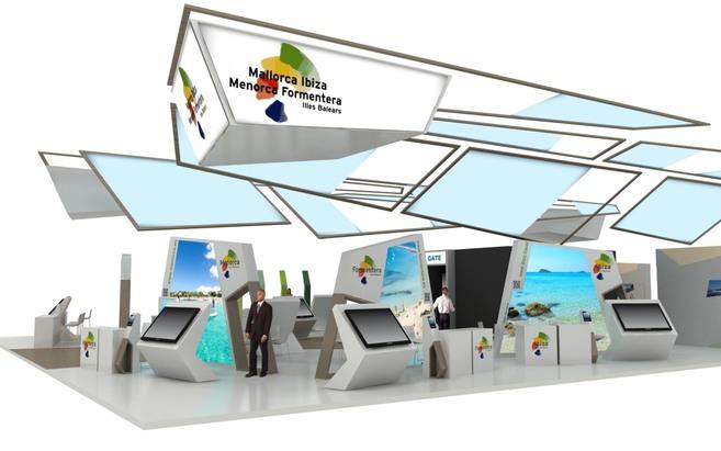 Imagen virtual del estand que presentará Baleares en Fitur.
