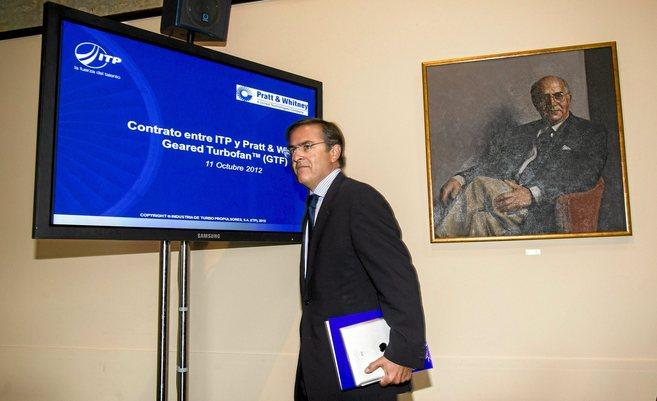 El máximo responsable de ITP, Ignacio Mataix, en la sede de Zamudio.