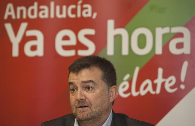 El coordinador de IU-CA, Antonio Maíllo, en Córdoba.