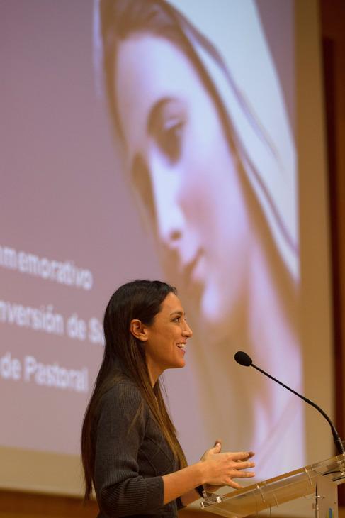 Tamara Falcó, durante su intervención.
