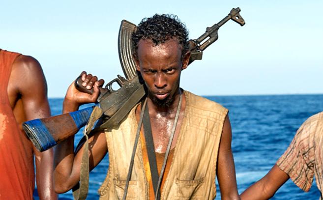 Barjad Abdi, en una escena de 'Capitán Phillips'.