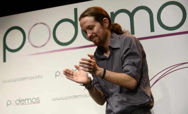 Pablo Iglesias, durante la presentación de Podemos.