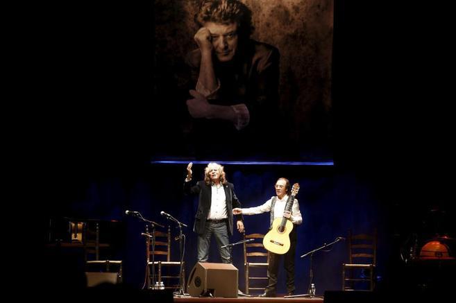 Jose Merce y Pepe Habichuela en el concierto homenaje a Enrique...
