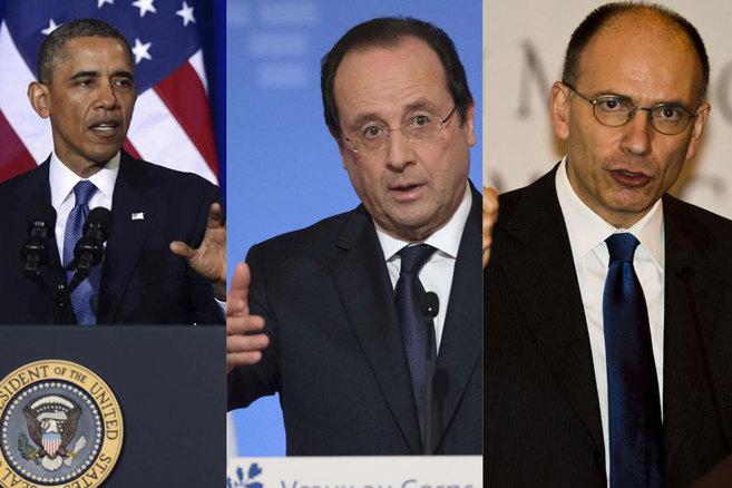 Obama, Hollande y Letta, elegidos mediante el sistema de primarias.