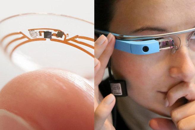 Prototipo de lentillas para diabéticos y sus ya famosas Google glass.