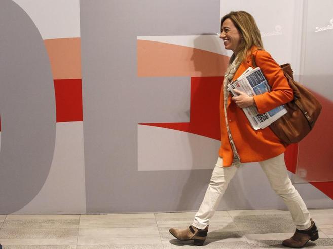 Carme Chacón, a su llegada al Comité Federal del PSOE.
