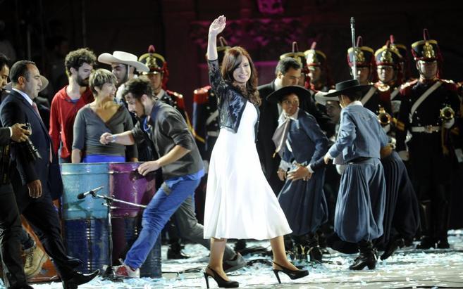 La presidenta de Argentina, Cristina Fernández , en un acto celebrado...