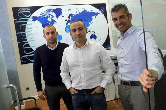 Ricardo García, Antonio García y Juan Carlos Moreno, socios de...