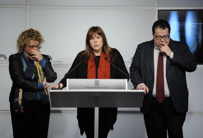 Los tres diputados díscolos.