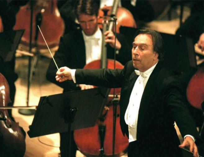Abbado, en palermo, con la Filarmónica de Berlín, en 1996.