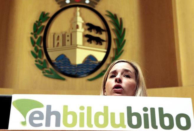 La portavoz de Bildu del Ayuntamiento de Bilbao Aitziber Ibaibarriaga.