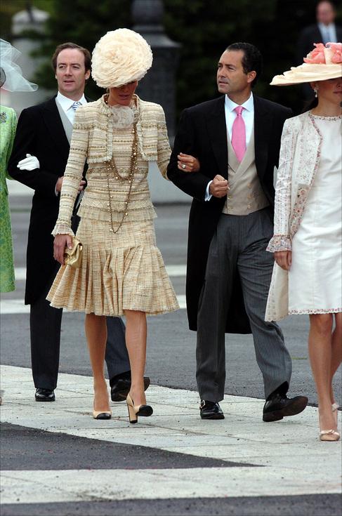 Ricky Fuster y su esposa, en la boda de los Príncipes de Asturias.